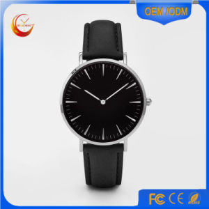 Ladies Vogue Alloy Case PU/Artificial Leather Strap Watch pictures & photos
