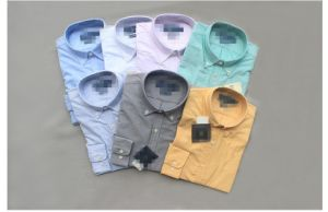 Business Casual Cotton Long Sleeve Oxford Pure Shirt for Man/Male pictures & photos