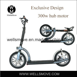 Wellsmove New Design Light Weight Personal Transportation Vehicle Folding Electric Scooter Mobility 300W pictures & photos