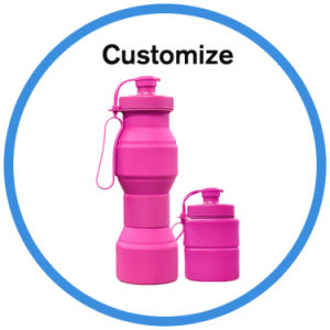 Custom Silicone Plastic Foldable Sport Water Bottle pictures & photos