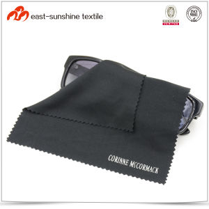Black Silk Printing Microfiber Cleaning Cloth pictures & photos