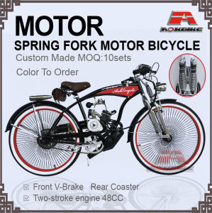 Spring Suppension Fork 48cc Engine Gas Motor Bike (MB-19-1) pictures & photos