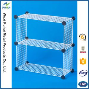 4 Layer Stacking Wire Basket with Wheels pictures & photos