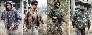 Men′s Outdoor Hunting Camping Hoodie Waterproof Coat Sports Military Jacket pictures & photos