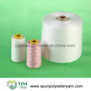 Polyester Spun Yarn Dyeing/ Raw White Yarn pictures & photos