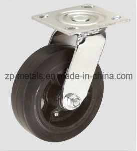 4inch Heavy-Duty Iron Rubber Swivel Caster Wheel pictures & photos