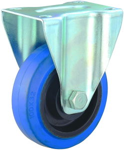 3/4/5 Inch Blue Elastic Rubber Swivel Caster for Trolley pictures & photos