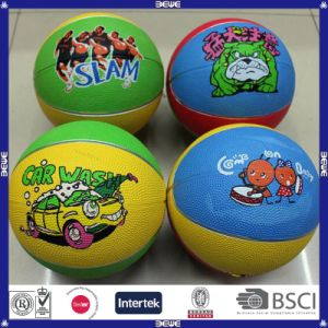 8 Panels Rubber Basketball with Customized Logo and Color pictures & photos