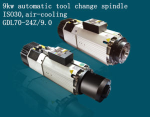 Hqd Hanqi 9kw Automatic Tool Change Air-Cooling Spindle Motor (GDL70-24Z/9.0)