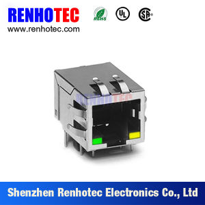 90 Degree Network Modular Jack RJ45 Connectors with Dual USB pictures & photos