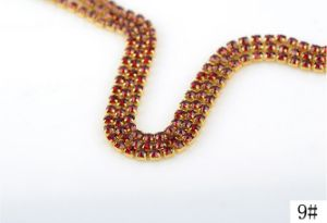 Fancy Stone Chaton Cup Chain Rhinestone Trim Chain (TCG-ss12 peridot) pictures & photos
