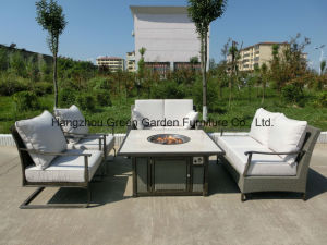 Modular Patio Furniture Rttan Sofa Set with Fire Pit pictures & photos