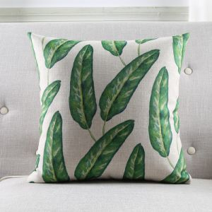 Tropical Pillow Cover Case Vintage Green Jungle Leaves Cushion Pillow pictures & photos