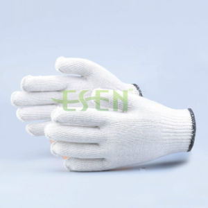 2017 Good Quality 50g Natural White 10 Gauge Knitting Cotton Working Gloves pictures & photos