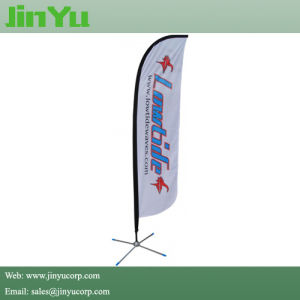 Aluminum Fiberglass Feather Flag Banner with Cross Base pictures & photos