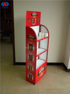 3-Layers Custom Merchandise Shelf Food Display Rack pictures & photos