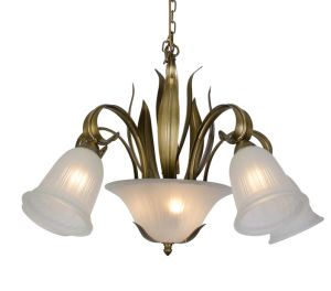 Russia Styple Green Leaf Glass Shade Small Chandelier Light pictures & photos