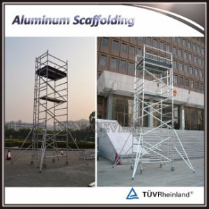 Aluminum Alloy Frame Scaffold Double Width Scaffolding System with Caster pictures & photos