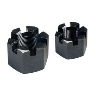 Hexagon Slotted Nuts and Castle Nuts with Metric Coarse and Fine Pitch Thread DIN935 Black