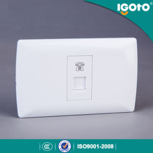 One Gang Telephone Socket for South American Market pictures & photos