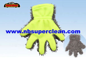 The Newest Chenille Glove Mesh Microfiber Car Washing Finger Mitt (CN1373) pictures & photos