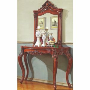 Wood Dresser Table with Dresser Stool for Bedroom Furniture pictures & photos