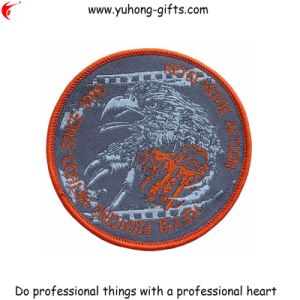 Garment Embroidery Emblem with Overlock Edge (YH-EB017) pictures & photos