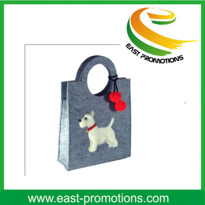 Custom Printed Large Felt Shoulder Bag pictures & photos