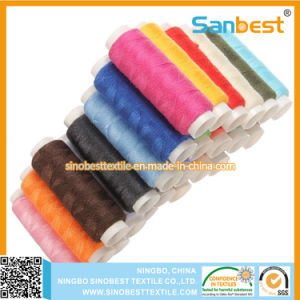 Colorful 100% Spun Polyester Sewing Thread on Small Reels pictures & photos