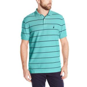 2017 Fashion Stripe Polo Shirts CVC Yarn Dyed Polo Shirts