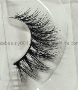 3D Luxurious 100% Mink Eyelashes Double Hair Natural Real Mink Fur Lashes pictures & photos