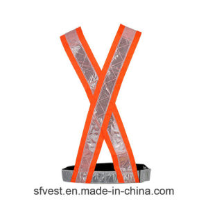 100% Polyester Hi Vis Safety Reflective Vest PVC Tape Safety Belt for Traffic or Riding pictures & photos