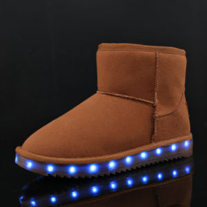 2017 New Fashion USB Rechargeable High Top LED Shoes for Men Unisex LED Luminous Shoe Party Night Club Glowing Shoes pictures & photos