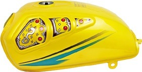 Motorcycle Parts Motorcycle Fuel Tank for Cg125m/Cg Ava150/ Yellow pictures & photos
