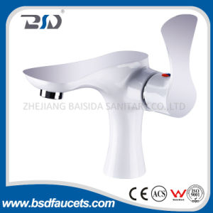 Single Side Lever Chrome White Water Basin Mixer Faucet pictures & photos
