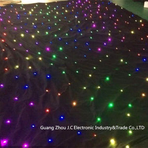 RGB 3in1 LED Star Curtain/Star Cloth for Stage Backdrop Decortation pictures & photos