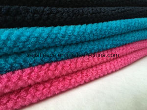 Jacquard Colorful Brushed Plain Coral Fleece pictures & photos