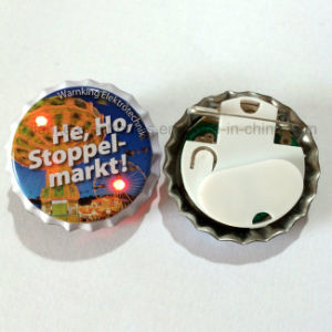 Hot Sell LED Flashing Pin Button with Logo Printed (3569) pictures & photos