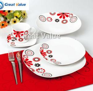 20PCS Square Custom Ceramic Tableware pictures & photos