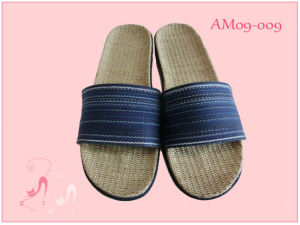 Soft Summer Open Toe Indoor Flax Slipper pictures & photos