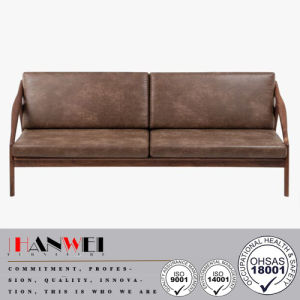 Modern Lounge Walnut Oak Beech Home Fabric Wooden Living Room Sofa pictures & photos
