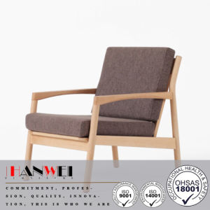 Modern Beech Wooden Single Sofa Set Wooden Furniture for Living Room pictures & photos