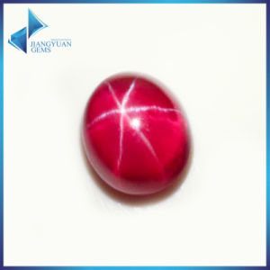 Oval Cabochon Cut Lab Created Synthetic Red Star Sapphire Price pictures & photos