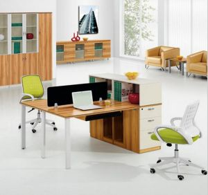 2 Seats Straight Desk Workstation Cluster Staff Office Partition (HX-NCD288) pictures & photos