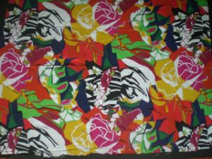 Printed Silk Cdc in Geometric Pattern pictures & photos