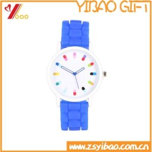 Custom Cheap Silicone Wristband Watch with Logo Printing (YB-SW-66) pictures & photos