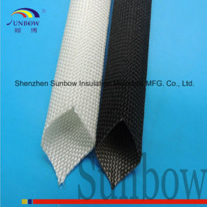 Sunbow High Temperature Resistant 500c Glass Fiber Braided Sleeve pictures & photos