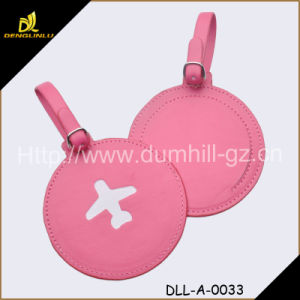 Guangzhou Leather Factory PU Leather Shaped Luggage ID Tag pictures & photos