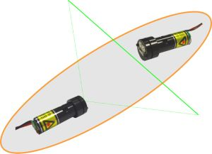 Supplying Green and Red Laser Modules for Christmas Decoration pictures & photos