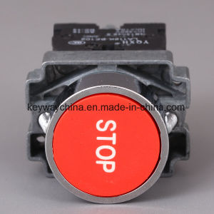Metal Emergency Type Pushbutton Switch with Keyway Brand pictures & photos
